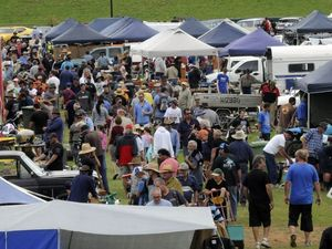 Swap meet draws large crowds and for some interesting sales