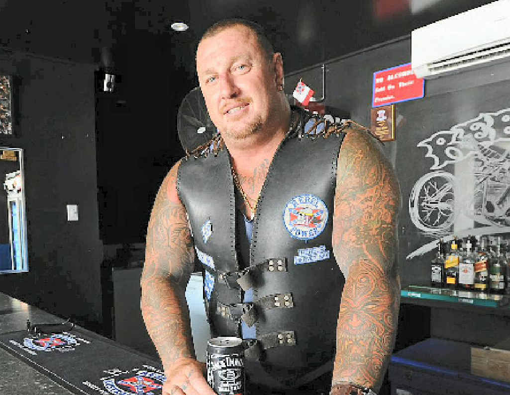 HAPPIER TIMES: Former Wide Bay Rebels Motorcycle Club president, Adam 'Big Adam' McCrea.