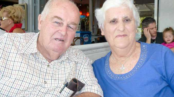 ONE-EYED QUEENSLANDER: Neville Heiniger, who died this week, and his wife Rae.
