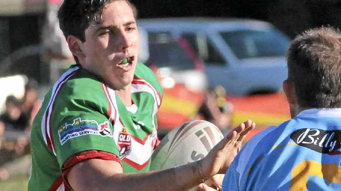 LOVING THE CHANGE OF SCENE: Former Nambour Crusher Izaac Stains, last season's Sunshine Coast Gympie Rugby League player of the year, hopes to get plenty of game time with the Falcons tonight in their clash against Burleigh.