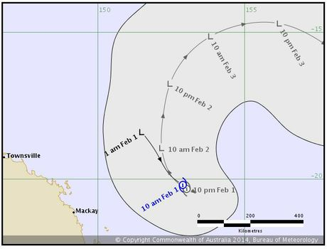 Projected path for TC Edna released by BOM