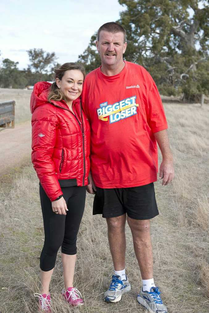 Rodger Turner with his new trainer Michelle Bridges.