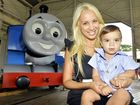 Nawal and Yianno Stilianos enjoy the last of the Day Out With Thomas childrens event at the Workshop Rail Museum. Photo: Claudia Baxter / The Queensland Times