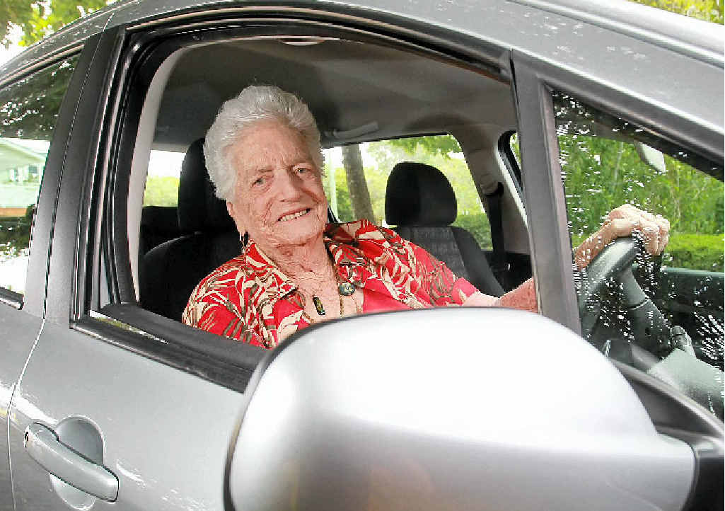 WON'T SLOW DOWN: Mary Murray, 96, says rules to make elderly drivers redo their road test would be discriminatory.