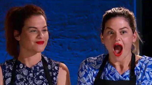 Helena and Vikki react to their perfect score of 10.