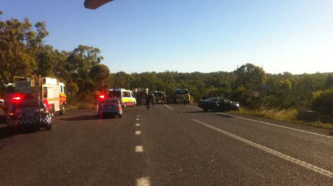 A woman has died in a crash on the New England Highway.
