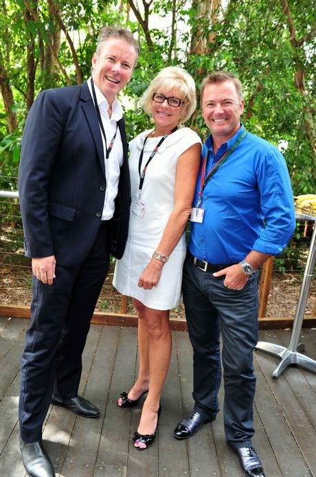 HOW IT'S DONE: Judy Reynolds will help women take their leadership journey further, seen here with Russell Green and Rob Nixon.