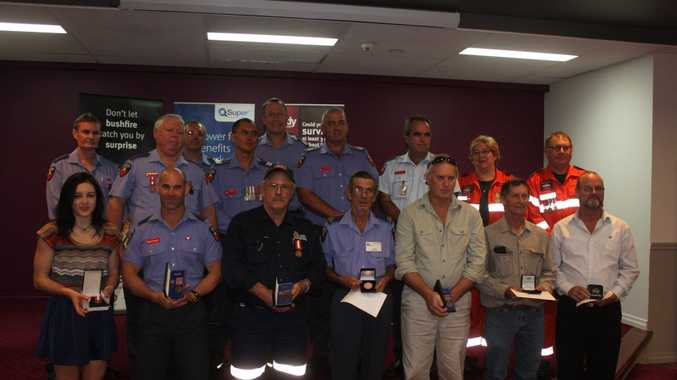 Award winners from the Queensland Fire and Emergency Services - 2014 Australia Day Achievement Awards Ceremony. Photo: Contributed