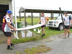 Club tackles flood damage
