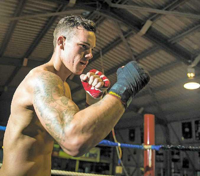 Liam Nicolson training at Gladstone Amateur Boxing Club.