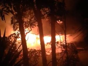 VIDEOS: House destroyed by fire, may be suspicious