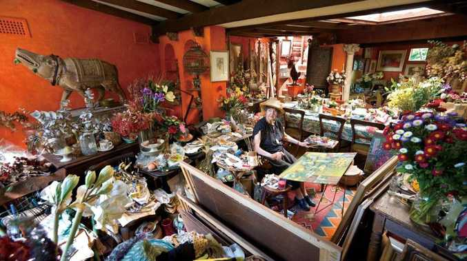 Margaret Olley in her home studio which is being recreated in Murwillumbah.