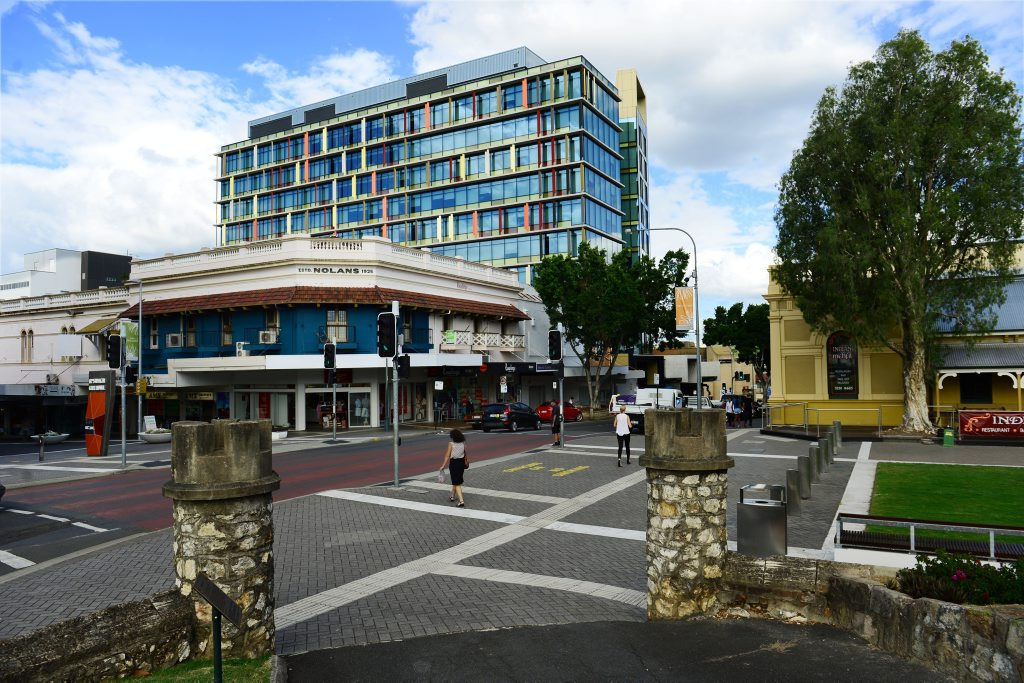 LANDMARK: The Icon Ipswich Tower can be seen among the older buildings in the Ipswich CBD area.