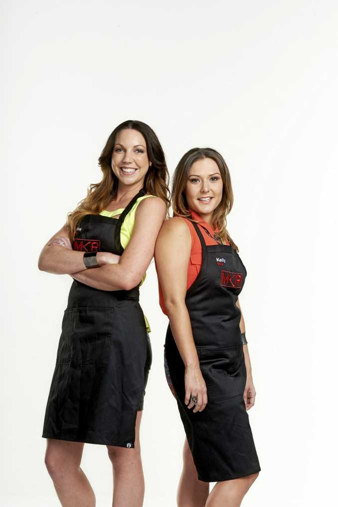 My Kitchen Rules 2014 contestants Chloe, left, and Kelly from Perth.