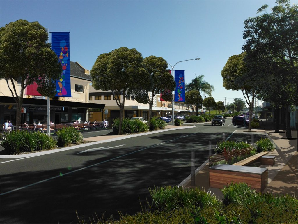 An artist impression of the new-look Tweed Heads CBD.