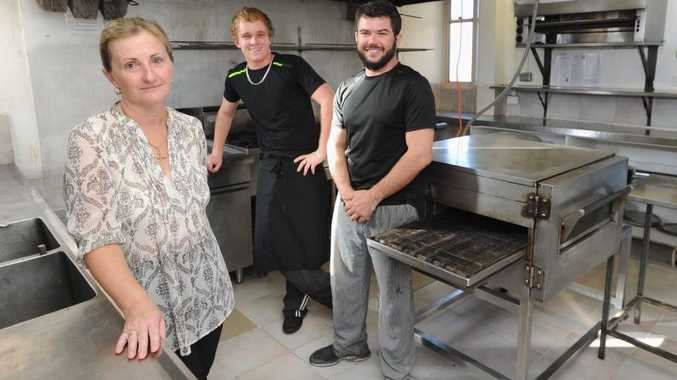 Viva Italia owner Irene Coles with cooks Jesse Coles and Leigh Steele in the restaurant kitchen.