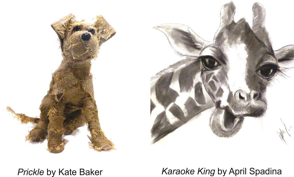 Some of Kate Baker and April Spadina's artwork.