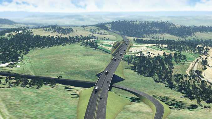 Artist's impression of completed Toowoomba Bypass at Hermitage Rd. Photo Contributed