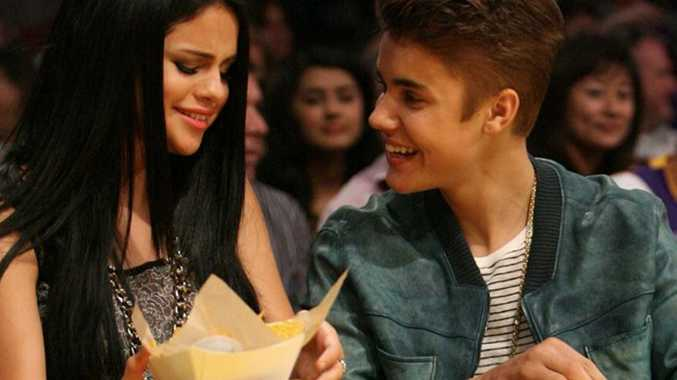 Selena Gomez pictured with Justin Bieber.
