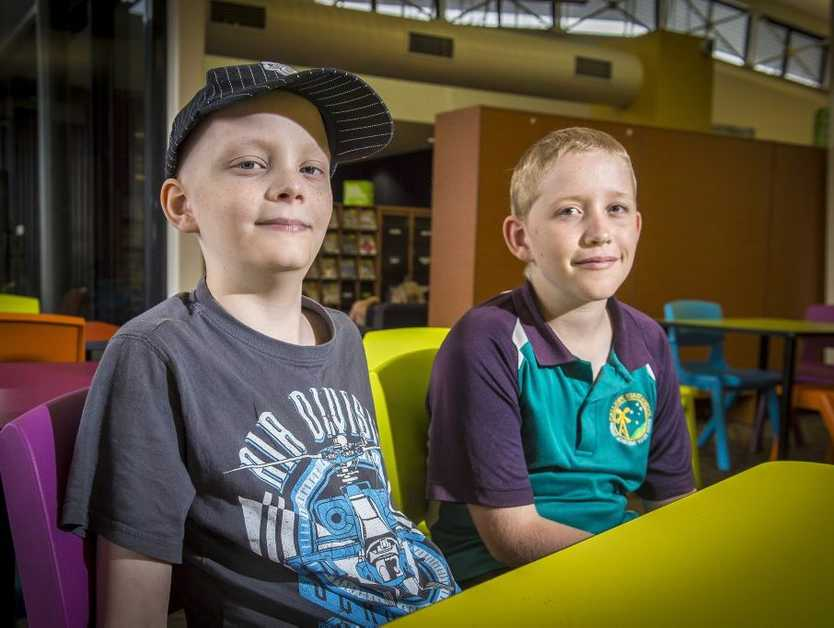 Mitchell Luders, 11 and his friend Steven Vesel, 10 formed a bond while being treated for neuroblastoma.