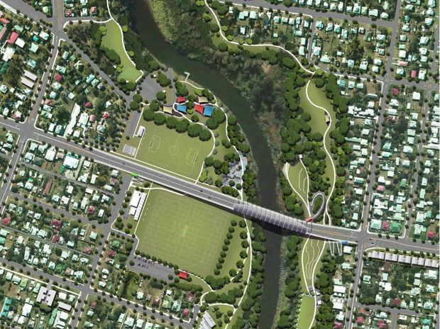 FUTURE FACE: An impression of the proposed Norman St Bridge which will service a growing Ipswich.