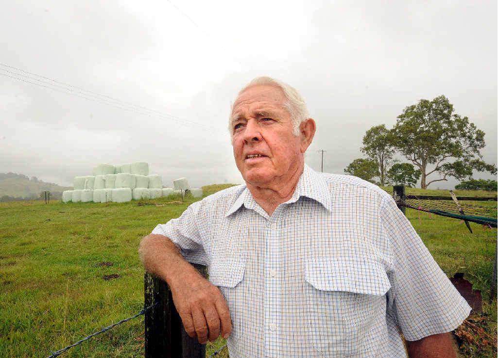 BLEAK OUTLOOK: Goolmangar cattle grazier Bruce Shearman fears for the future.