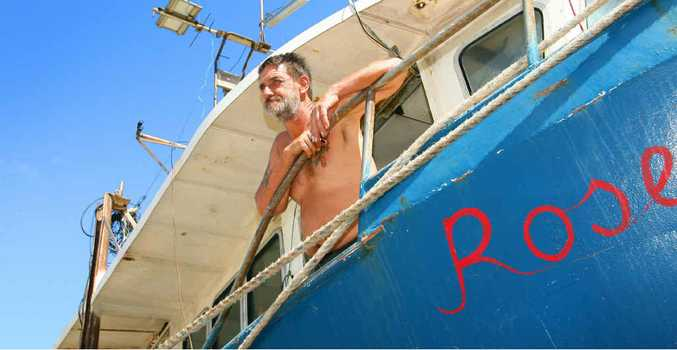 STRANDED: Deck hand Richard Hill looks for a way to get Rosella back.