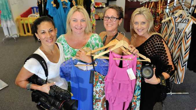 GOOD CARE: T-Leaf clothing's Karen Van Lawick (second from left) and Deslie Anderson with Kerry Thomas and Annie Gelhaar-Grice, will be giving a local woman diagnosed with cancer an afternoon of pampering.