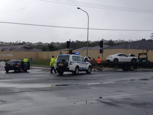 Two cars were involved in the first of two crashes in Banora Point since yesterday.