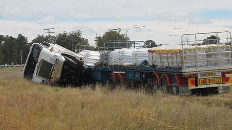 A man has been killed in a collision between a car and truck on the New England Hwy near Stanthorpe.