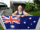 FLAG WILL FLY: Goodna Vietnam veteran Neville Irwin is delighted Department of Housing Minister Tim Mander has given him the green light to fly the Australian flag