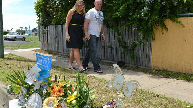 Vicki Blackburn and husband Paul Beardmore have a constant reminder of Shandee, with a kerbside memorial left where she was killed.