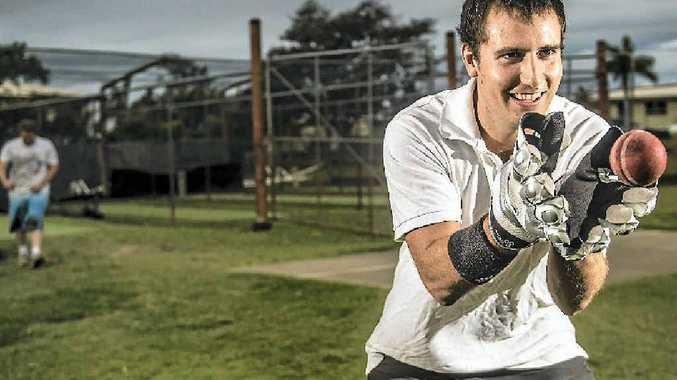 TOUGHENING UP: Yaralla's Daniel Jankowski is getting accustomed to sore hands as he learns wicketkeeping.