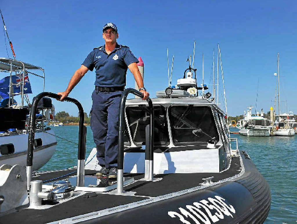 STORM READY: Gladstone Water Police Sergeant Jeff Barnett says preparation is essential for boat owners.