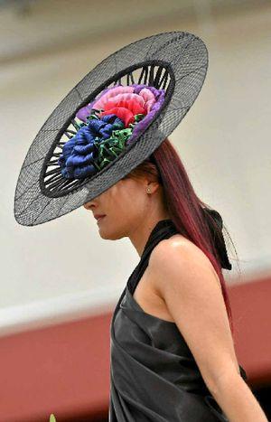 TURN HEADS: Lynda Ninness' wearable art entry in last year's Calliope Catwalk Fashion Design Awards.