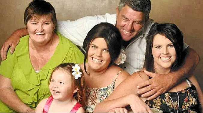 BETTER DAYS: The Deacon family – Tracey, John, Acacia, Tara and Jade.