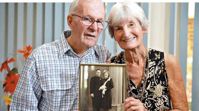 STILL IN LOVE: Vic and Sylvia Turner from Buderim celebrate their 60th wedding anniversary.