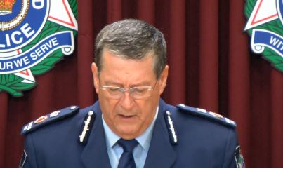 Police  Commissioner Ian Stewart after two police officers were charged with rape.