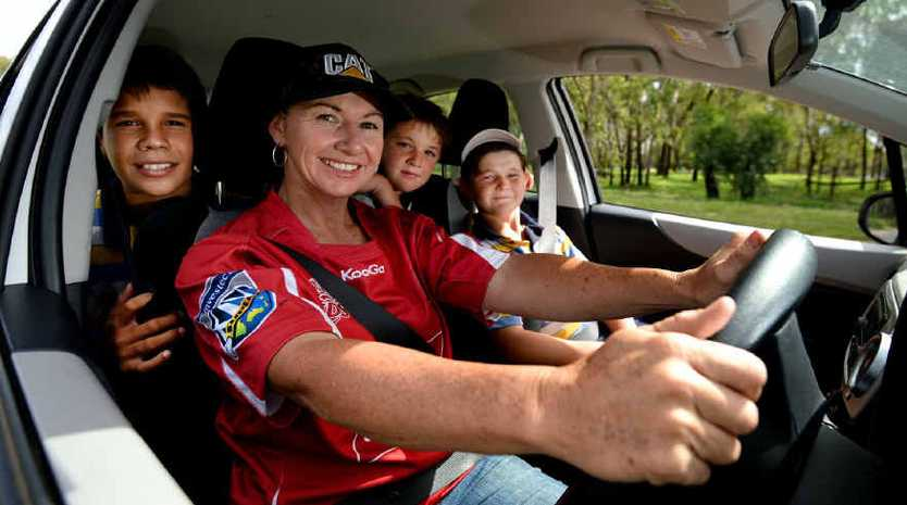 Larson Dale-Doyle, Lorraine Barham-Placid, Harry Barham and Jake Barham are heading off to Toowoomba to watch Rockhampton product Jonah Placid play a trial match for the Queensland Reds tonight.
