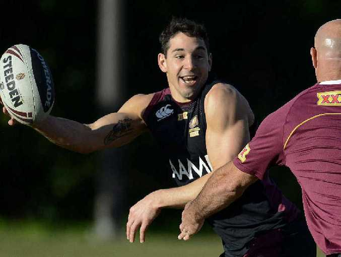 ALL THE FUN OF THE COAST: Maroons champion fullback Billy Slater has a whale of a time during training at the Palmer Coolum Resort last year leading into the State of Origin series.