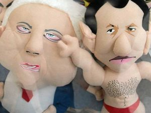 Want to win a Clive Palmer doll? How about an Abbott plush?