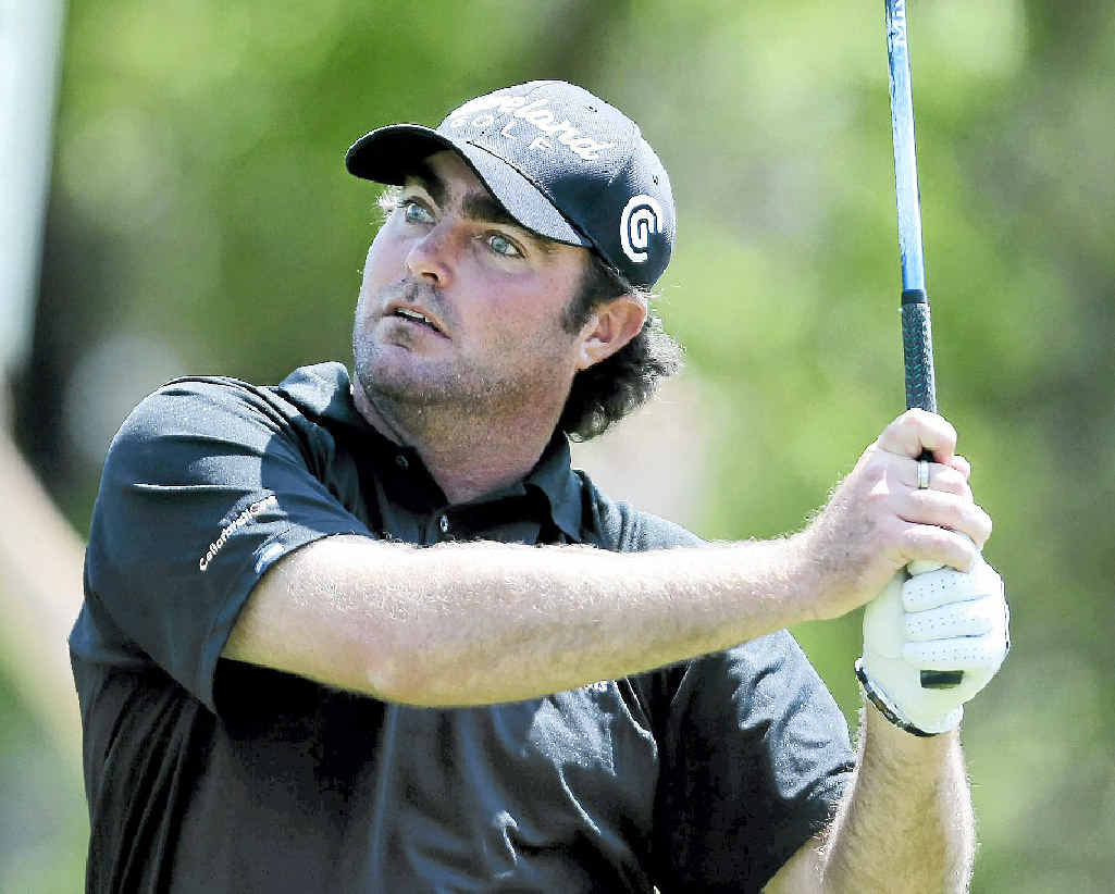 IN THE RUNNING: Steven Bowditch is four shots off the pace at the AT&T; Pebble Beach Pro-Am.