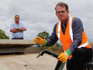 Eli Creek landfill fence cut to dump concrete