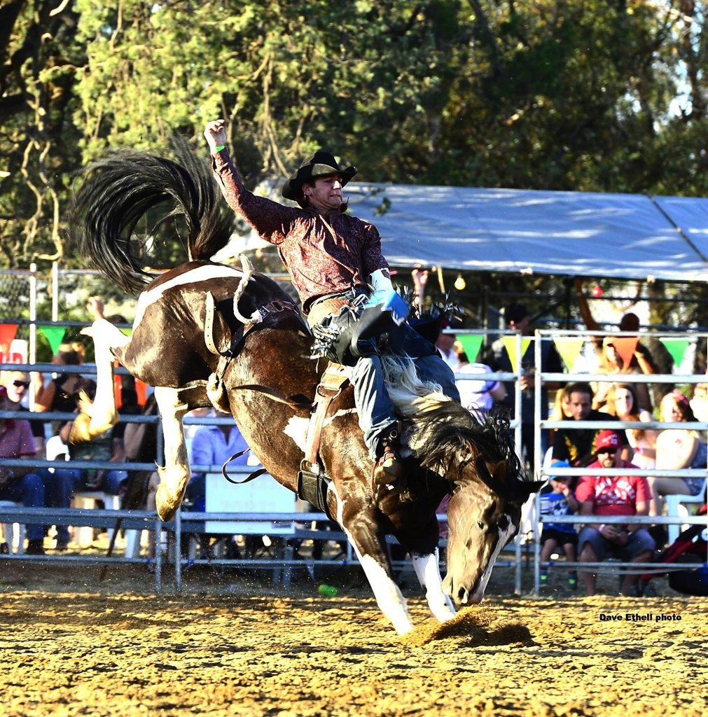 Owen Lee competing at the Warwick Rodeo in 2013.