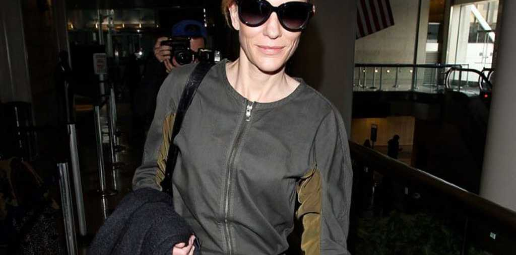 Cate Blanchett is back at work.