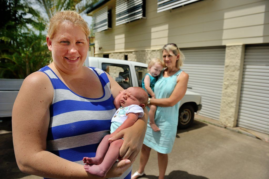 Nicky Gourley was attended by mother and nurse Tracy Gourley when she unexpectedly gave birth to son Jackson in her driveway last week.