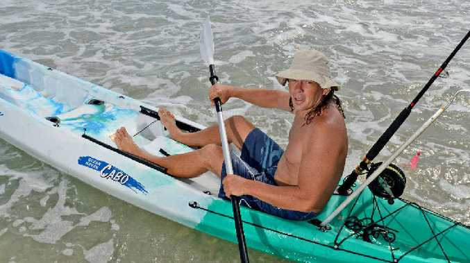 SOLID CORE: Fishermen don't get much more hardcore than Ben Barrie, who kayaks out to sea for fish.