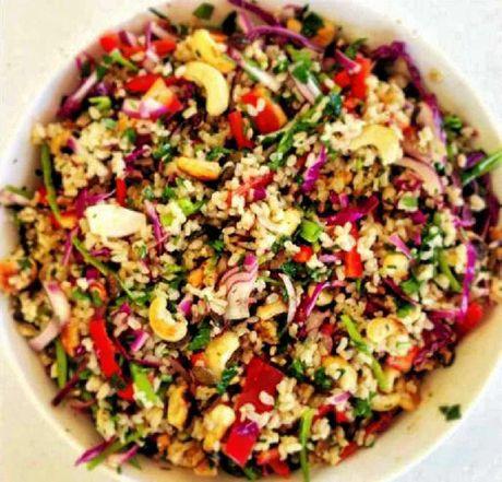 ALTERNATIVE: Jacqui Smith's brown rice salad.