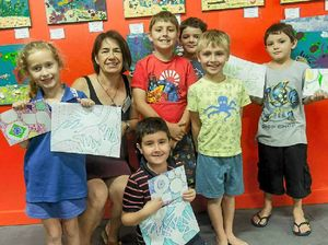 Kids get creative at Community Arts after-school class