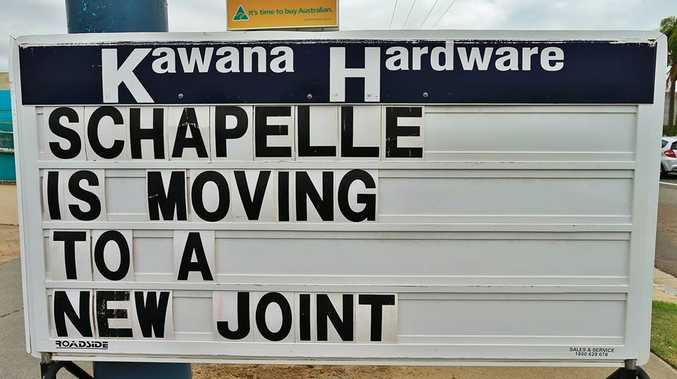 Kawana Hardware had this sign up outside its store in light of Schapelle Corby's release from prison.